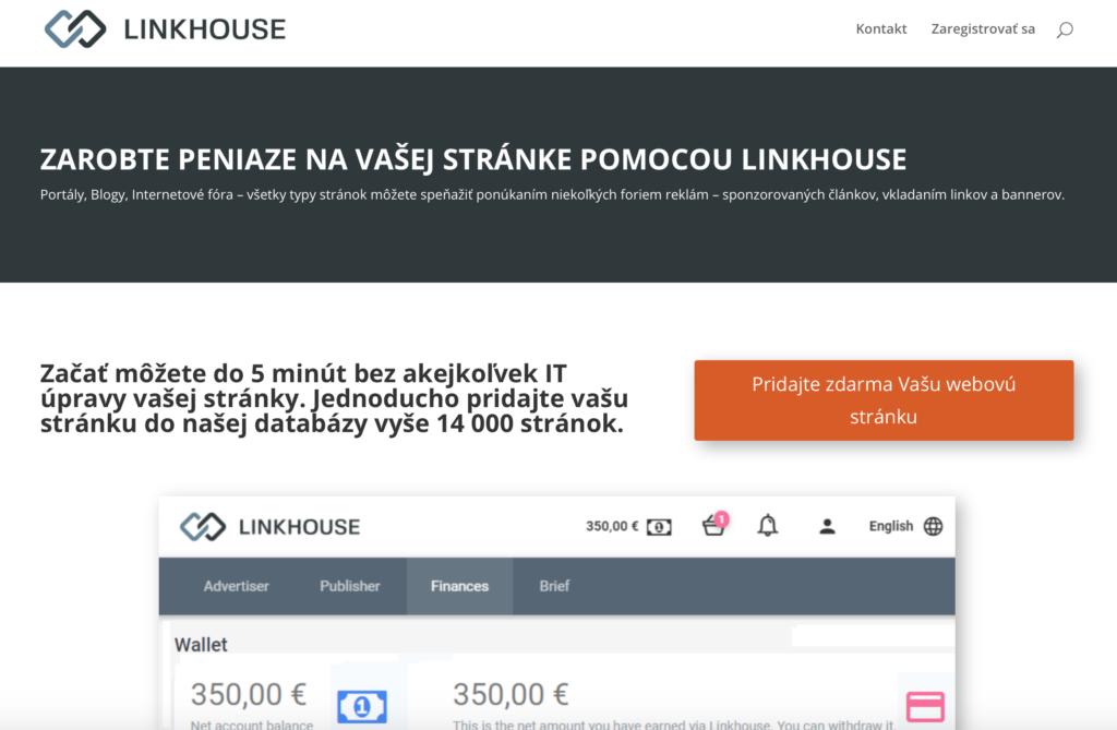 Linkhouse.sk platforma pre tvorbu obsahu