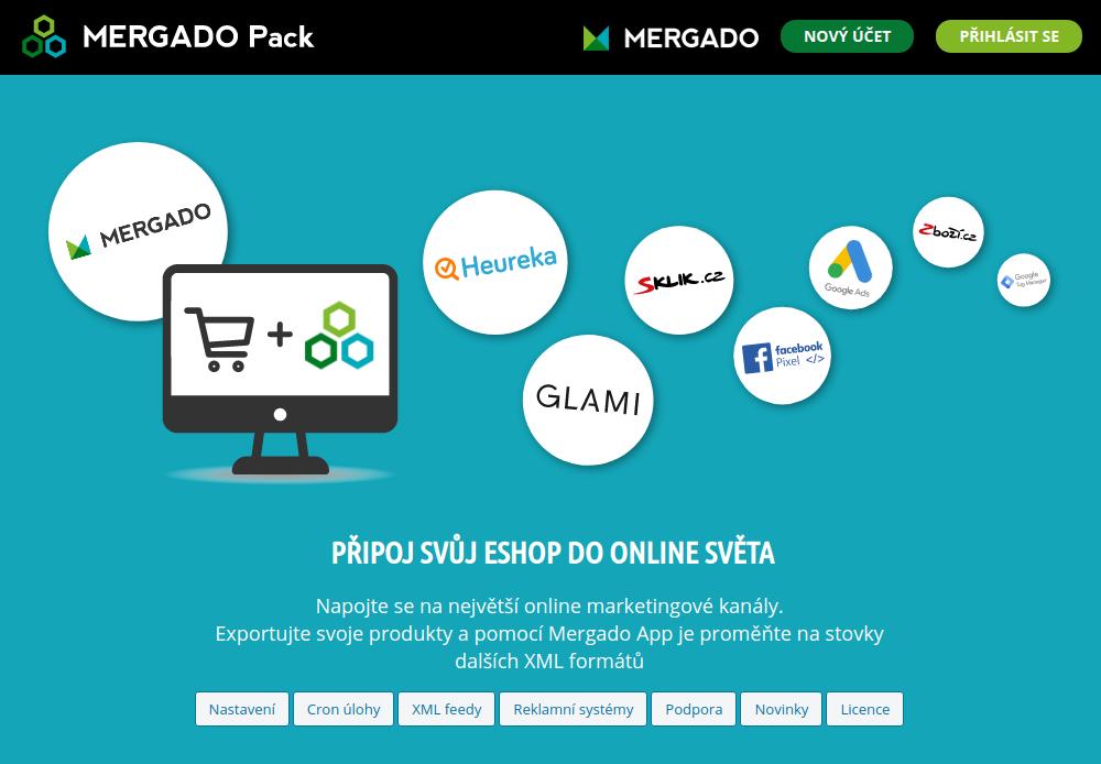 Mergado Pack - administrácia