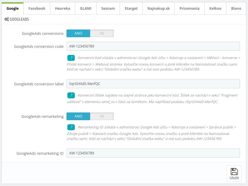 Mergado Pack - konfigurácia Google Ads v PrestaShop