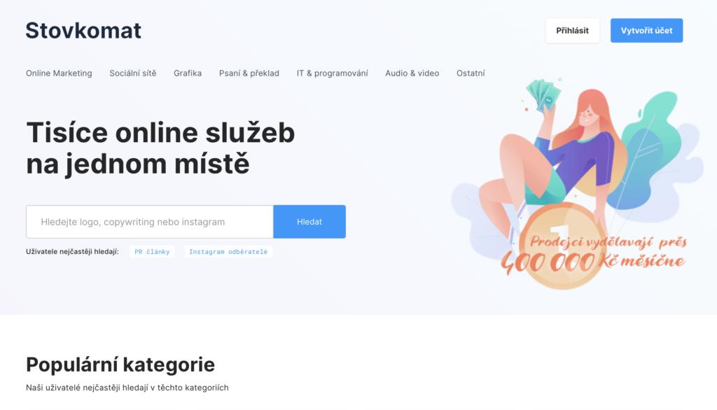 Stovkomat.cz trh s mikroprácami rôzneho druhu