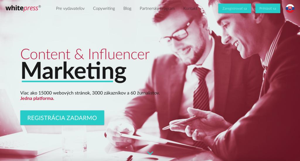 WhitePress.sk platforma zabezpečujúca content a influencer marketing