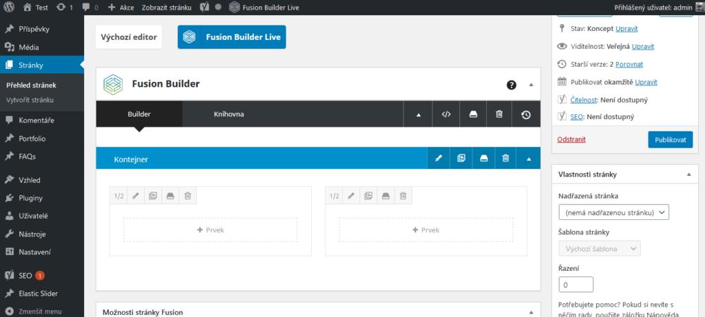 Recenzia - WordPress šablóna Avada - Fusion Builder