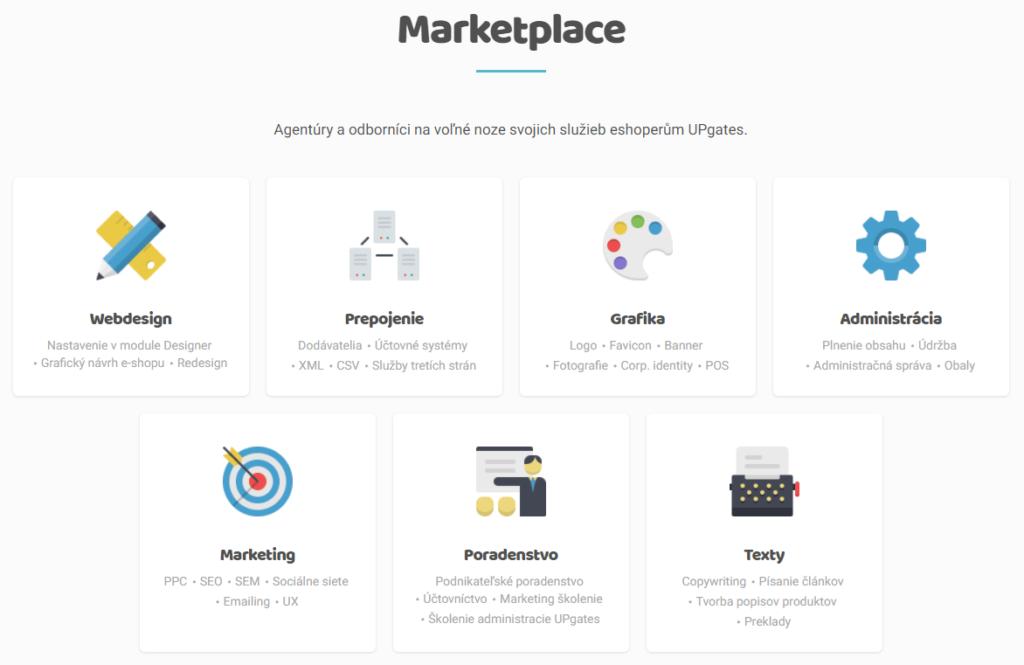 UpGates recenzia marketplace