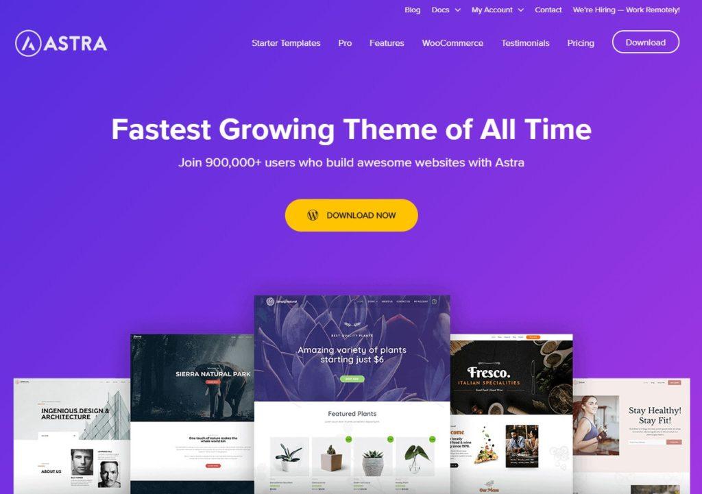 Recenzia: WordPress šablóna Astra - predstavenie