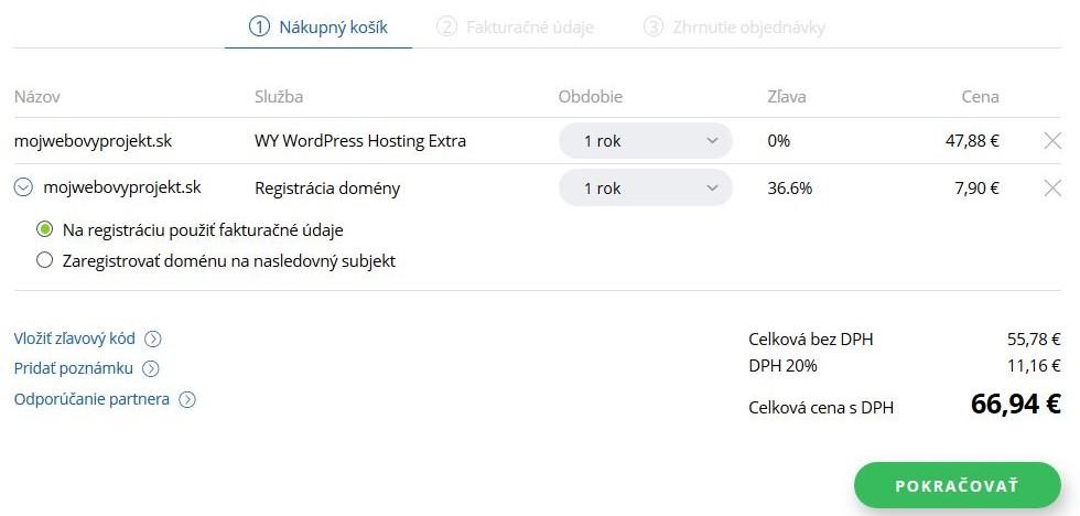 WY recenzia objednávka WordPress hostingu II.