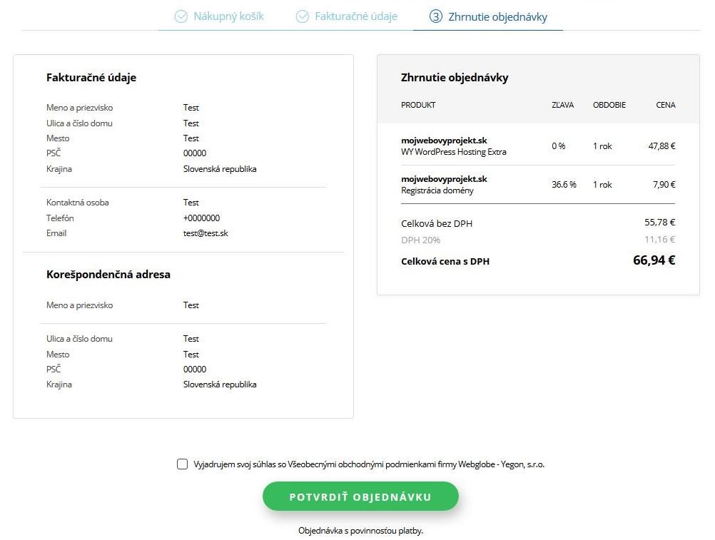 WY recenzia objednávka WordPress hostingu IV.