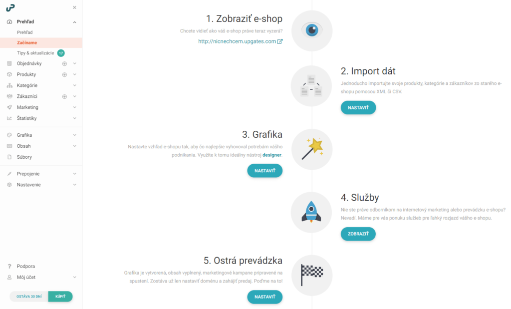 Recenzia UpGates založenie e-shopu