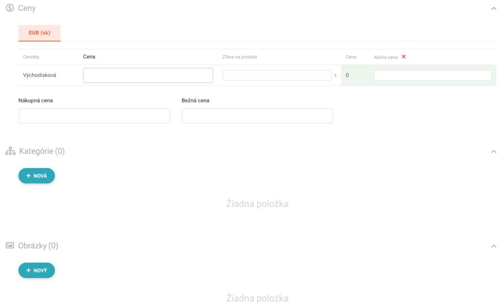 Recenzie UpGates založenie e-shopu pridávanie produktu