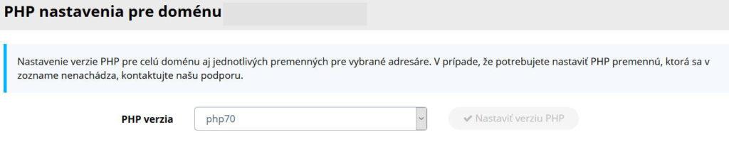 WY recenzia WebPanel nastavenia PHP