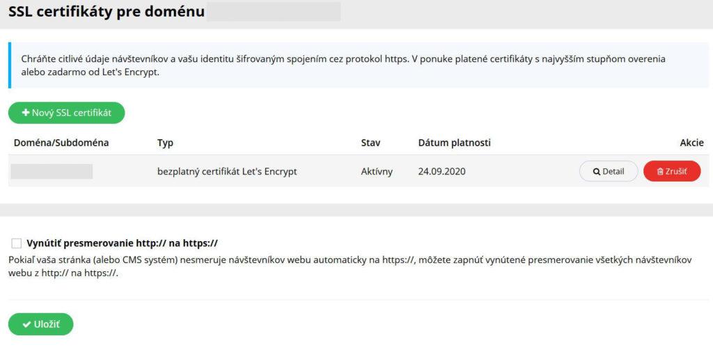 WY recenzia WebPanel SSL certifikát