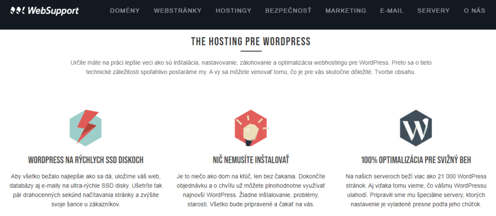 Recenzie WebSupport The Hosting pro WordPress