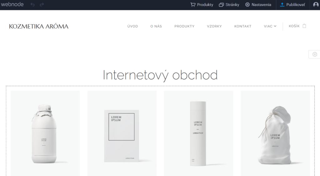 Webnode vs. Wix - Webnode administračné rozhranie