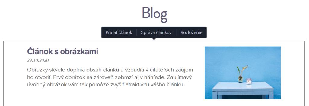 Webnode vs. Wix - Webnode správy blogu
