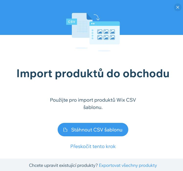 Webnode vs. Wix - Wix e-shop import produktov z CSV súboru