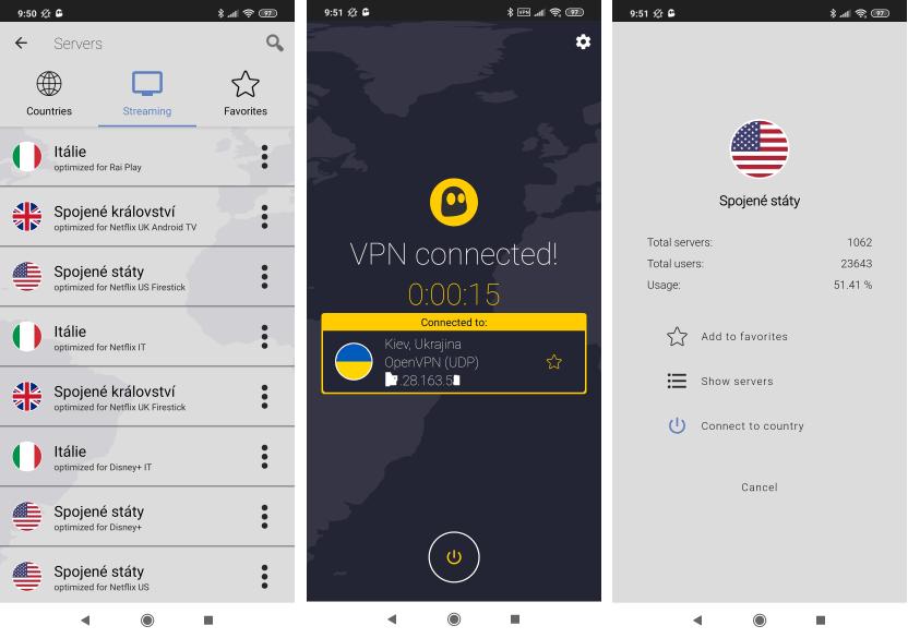 Recenzie CyberGhost VPN aplikácia pre Android