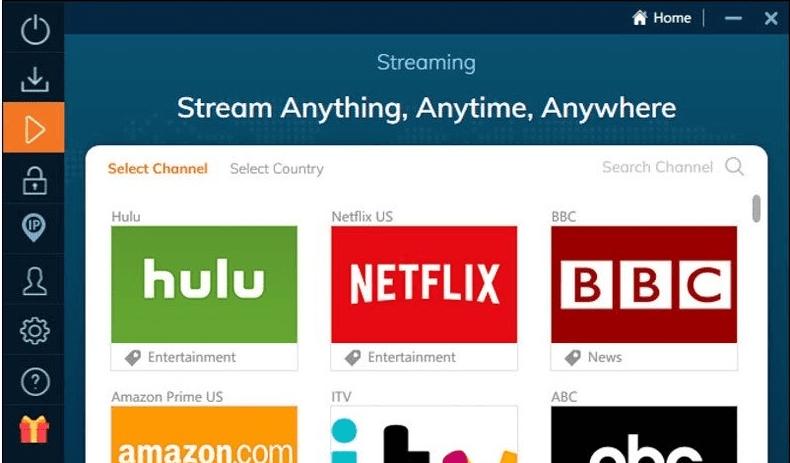 Ivacy VPN - podporované streamovacie služby