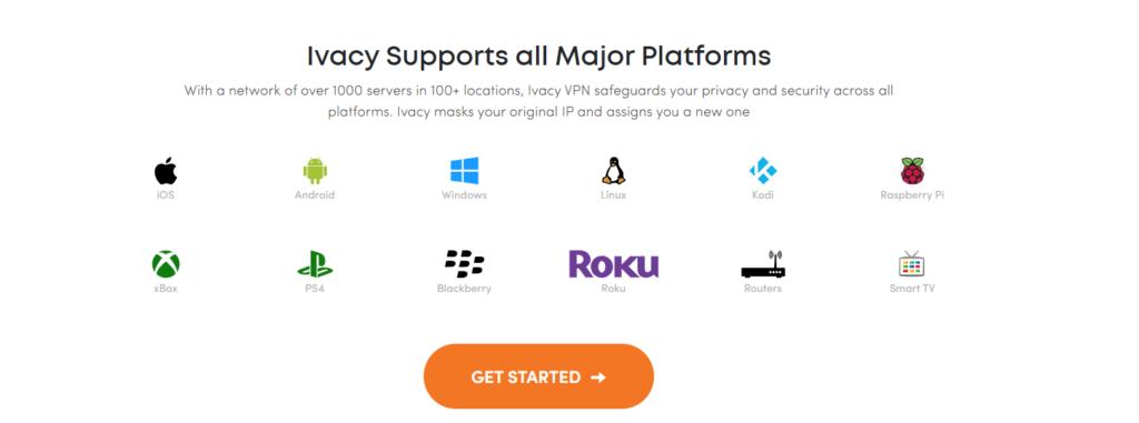 Ivacy VPN podporované platformy a operačné systémy