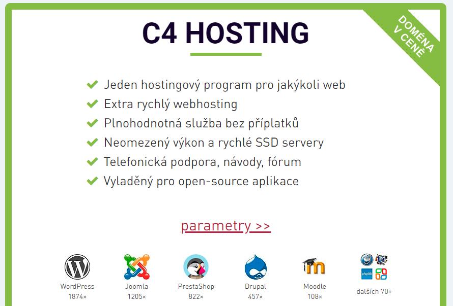 Webhosting C4 recenzia Hosting C4