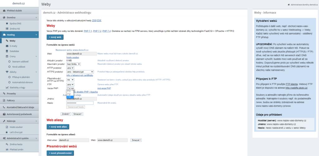 Recenzia Webhosting C4 administrácia webu