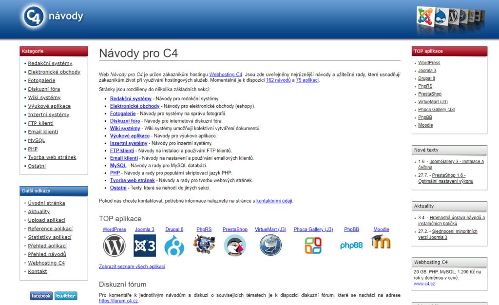 Recenzie Webhosting C4 inštalácia WordPress
