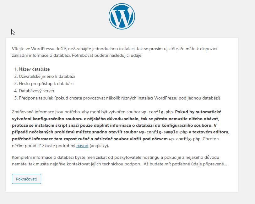 Webhosting C4 recenzia inštalácie WordPressu