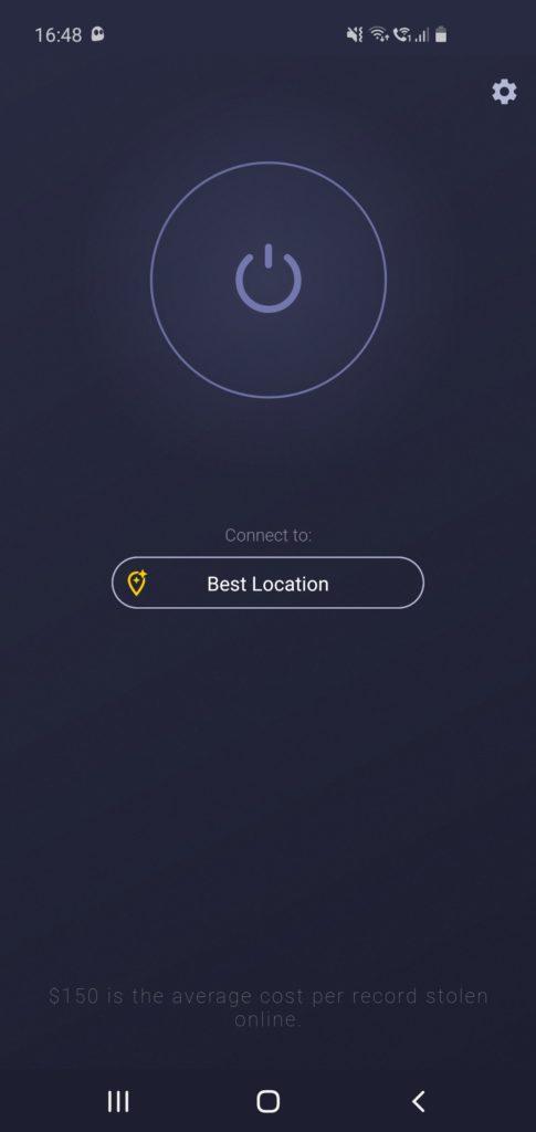 Recenzie CyberGhost VPN aplikácia pre Android výber miesta pripojenia