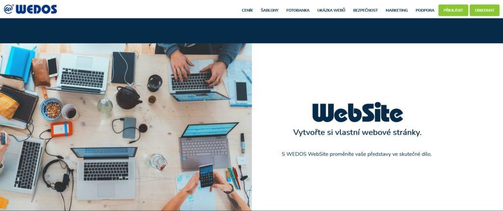 WEDOS website - WYSIWYG editor webových stránok