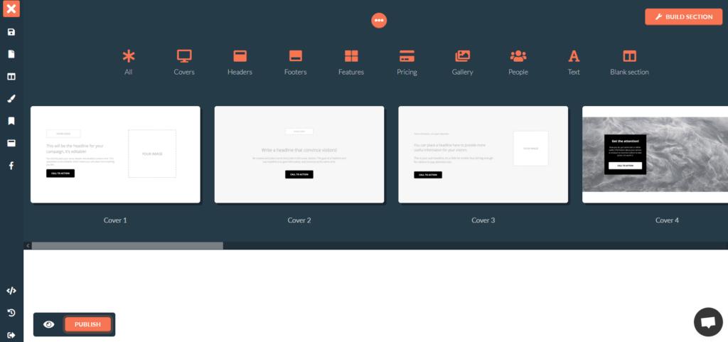 Ukážky sekcií webu vytváraného vo FastPages - recenzia.