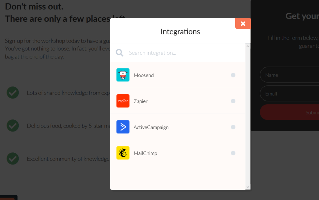 FastPages recenzie - napojenie na e-mailingové nástroje