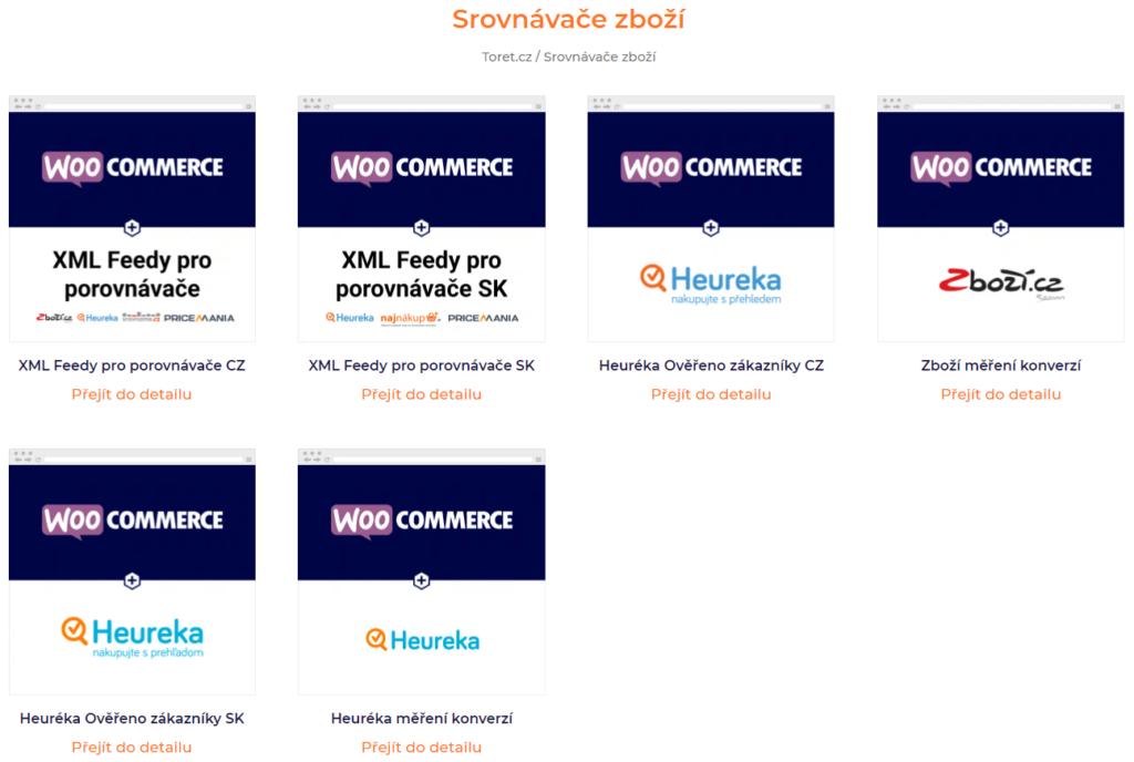 Pluginy pre napojenie WooCommerce na porovnávače tovaru typu Heureka