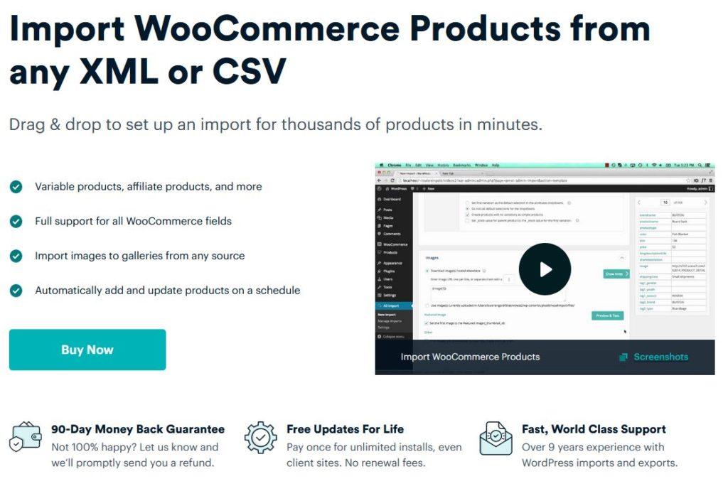 WP all import plugin pre WooCoommerce