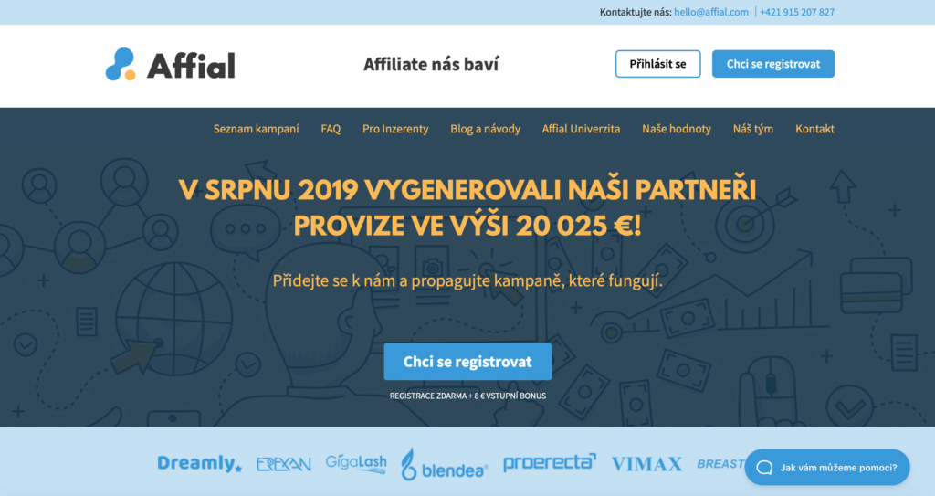 Affiliate sieť Affial.com