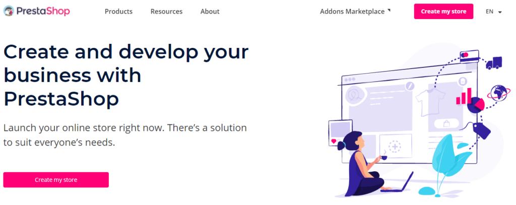 Platforma na tvorbu eshopu PrestaShop