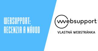 Websupport vlastná webstránka recenzia a návody