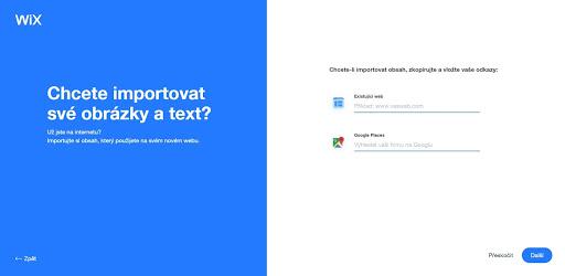 Wix: Chcete importovať obsah z webu, či doplniť Google mapy