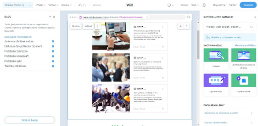 Wix: Pridajte a spravujte firemný blog