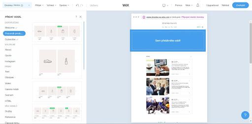 Wix: Pridávajte oddiely a stránky podľa ľubovôle