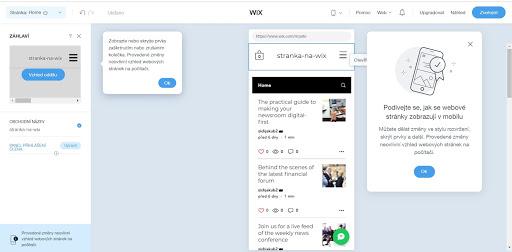 Wix: Takto vyzerá responzívne zobrazenie