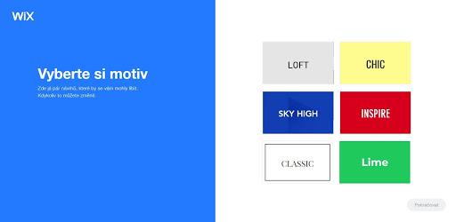 Wix: Vyberte si motív svojho nového webu