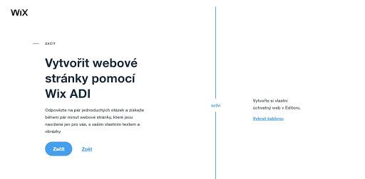 Wix - Vytvoriť webové stránky pomocou Wix ADI